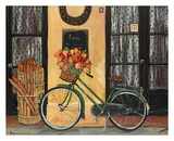 Bicycle with Flowers Kunstdrucke von Suzanne Etienne