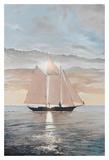 Schooner in the Sun Prints by Robert G. Radcliffe