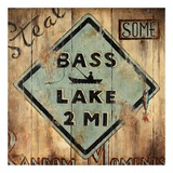 Bass Lake Poster von Janet Kruskamp