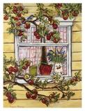Blue Jay at the Window Kunstdrucke von Suzanne Etienne