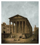 Temple of Augustus in Nimes, 1783 Affiches par Hubert Robert