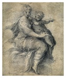 Madonna and Child on the Clouds Planscher av Parmigianino,