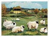 Lambs on Green Hill Kunstdrucke von Suzanne Etienne