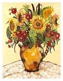 Farmer's Market Sunflower Poster von Suzanne Etienne