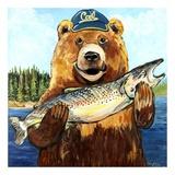 Cal Bear Poster von Suzanne Etienne