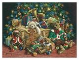 Oso de peluche navideño Pósters por Janet Kruskamp