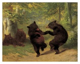 Dancing Bears Plakat af William Holbrook Beard