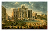 The Trevi Fountain in Rome Posters par Giovanni Paolo Pannini