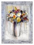 Bordered Bouquet II Prints by Hooshang Khorasani