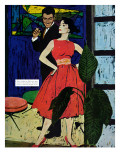 """Marriage Bait  - Saturday Evening Post """"Men at the Top"""", August 17, 1957 pg.26 Giclee Print by Morgan Kane"""