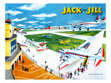 Airport - Jack and Jill, October 1950 Giclee Print by Joseph Krush