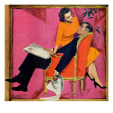 """The Year of Discontent - Saturday Evening Post """"Men at the Top"""", June 29, 1957 pg.18 Giclee Print by Morgan Kane"""