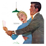 "Decitful Angel  - Saturday Evening Post ""Leading Ladies"", July 16, 1955 pg.21 Gicléetryck av Coby Whitmore"