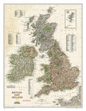 National Geographic - Map of Britain & Ireland Executive Style Poster