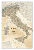 National Geographic Italy Map, Executive Style Poster