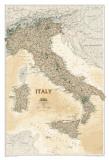 National Geographic Italy Map, Executive Style Plakat
