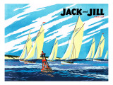 Regatta - Jack and Jill, August 1949 Giclee Print by Wilmer Wickham