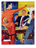 """Petticoat Empire - Saturday Evening Post """"Men at the Top"""", May 26, 1951 pg.22 Giclee Print by Gilbert Bundy"""
