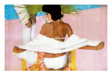 """Run of Luck - Saturday Evening Post """"Leading Ladies"""", January 6, 1962 pg.59 Giclée-tryk af Joe Bowler"""
