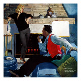 "What Husbands Don't Know - Saturday Evening Post ""Men at the Top"", April 25, 1959 pg.26 Giclee Print by Robert Meyers"