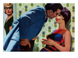 """The Nesting Instinct - Saturday Evening Post """"Men at the Top"""", March 21, 1959 pg.30 Giclee Print by Morgan Kane"""