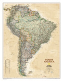 National Geographic South America Executive Style Poster