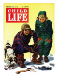 Ice Fishing - Child Life, February 1946 Giclee Print by Keith Ward