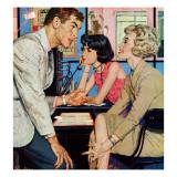 """New Girl  - Saturday Evening Post """"Men at the Top"""", August 8, 1959 pg.21 Gicléetryck av Bernard D'Andrea"""