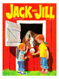 Feeding the Horse - Jack and Jill, July 1966 Giclee Print by Beth Krush