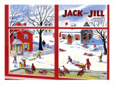 Winter Fun - Jack and Jill, January 1949 Giclee Print by Janet Smalley