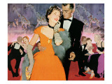 """Second Elopement  - Saturday Evening Post """"Leading Ladies"""", August 8, 1953 pg.24 Giclée-Druck von Robert Meyers"""
