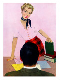 "Coed's Delight - Saturday Evening Post ""Men at the Top"", October 21, 1950 pg.27 Gicléetryck av Coby Whitmore"