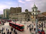 Colombia, Bogota, 16th Century Iglesia De San Francisco, Avendia Jimenez and Carrera Septima Fotografie-Druck von John Coletti