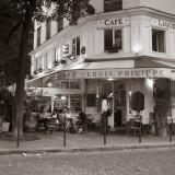 Cafe, Quai De L'Hotel De Ville, Marais District, Paris, France Fotografie-Druck von Jon Arnold