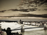 Hungary, Budapest, Parliament Buildings, Chain Bridge and River Danube Photographic Print by Michele Falzone