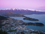 The Remarkables, Lake Wakatipu and Queenstown, Central Otago, South Island, New Zealand Photographic Print by Doug Pearson