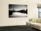 Switzerland, Valais, Zermatt, Lake Stelli and Matterhorn (Cervin) Peak Wall Mural by Michele Falzone