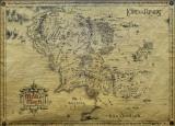 Ringarnas herre, karta, engelska Posters