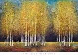 Gouden bomengroep Poster van Melissa Graves-Brown