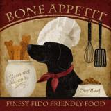 Bone Appetit, Englisch/Französisch Kunstdruck von Conrad Knutsen