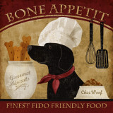 Bone Appetit Print by Conrad Knutsen