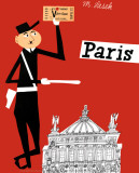Paris Kunstdrucke von Miroslav Sasek