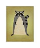 The Artful Raccoon Giclee-trykk av John Golden