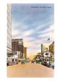 Polk Street, Amarillo, Texas Posters