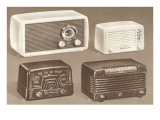 Four Table Radios Prints