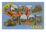 Greetings from Fort Hood, Texas Premium gicléedruk