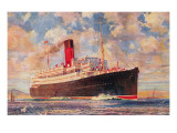 Ocean Liner with Clouds Prints