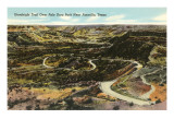 Goodnight Trail, Palo Duro Park, Amarillo, Texas Prints