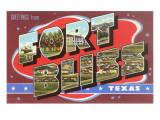 Greetings from Fort Bliss, Texas Premium gicléedruk