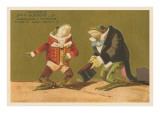 Frogs Dressed as Master and Servant Kunst